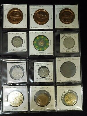 Lot of 12 Mixed Casino Tokens