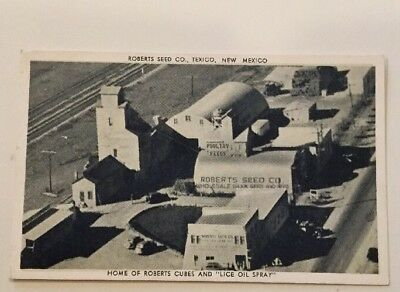 """Texico. N.M. 30's Pc Roberts Seed Co. & """"Lice Oil Spray"""""""