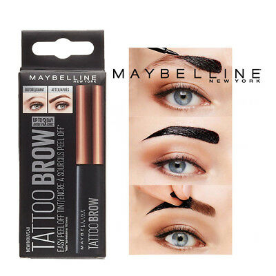 Maybelline Tattoo Brow Easy Peel off Tint Gel Eyebrow Tint Peel 3 SHADES