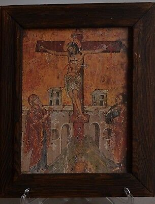 painting An old Symbolizes Christ and the Cross Old and very rare