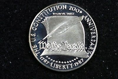 1787- 1987 The Us Constitution 200 Th Anniversary 1 Dollar Round!!  #h12333