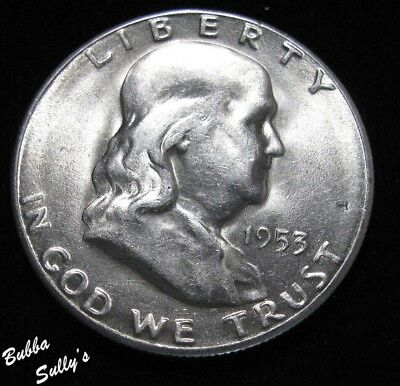 1953 S Franklin Half Dollar <> ABOUT UNCIRCULATED