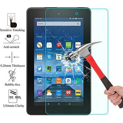Tempered Glass Screen Protector for Amazon Fire 7 2017 7th Generation