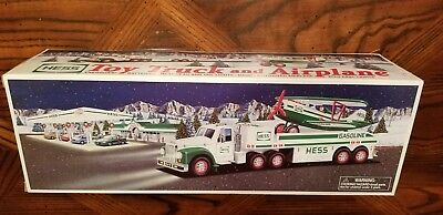 2002 Hess Toy Truck And Airplane - Mint In Box!