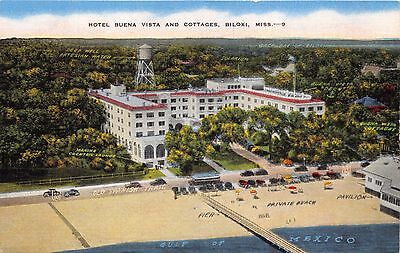 Biloxi Mississippi Hotel Buena Vista & Cottages On Gulf Coast Lot Of 3 Postcards