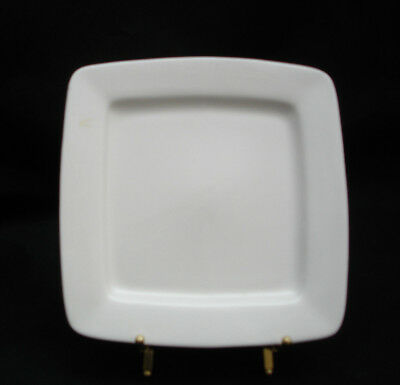 White Elements Square by Gibson SALAD PLATE 7 1/2""