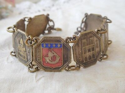 Decorative Art Deco Souvenir Bracelet from Paris France
