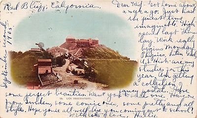 San Jose Mt Hamilton California Lick Observatory~Vignette Photo Postcard 1905