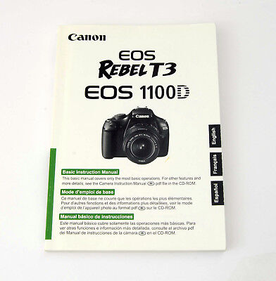 canon rebel t3 eos 1100d digital camera user instruction guide
