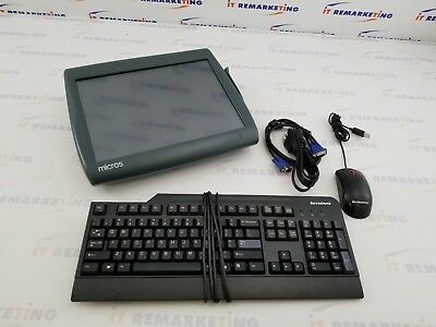 Micros Workstation 5A Touch POS WS5 400814-101 Point of Sale System - Bundle