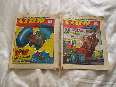 Lion and Thunder annual/comics x 2 30th march and 20th april 1974