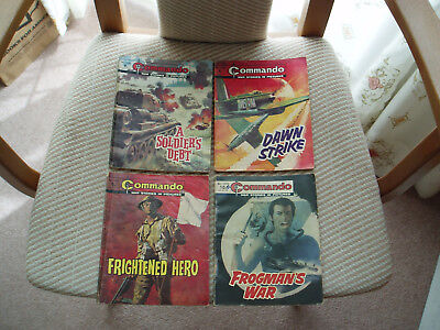 Commando annual/comics x 4 numbers 1241,1243,1251 and 1318