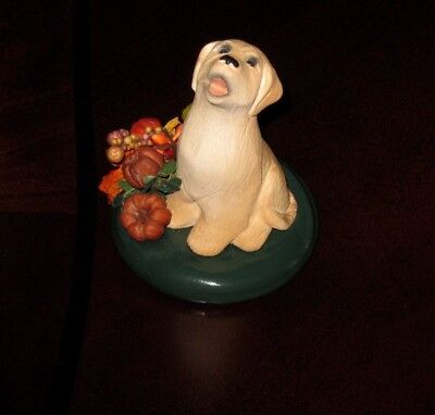 Byers choice DOG - YELLOW LABRADOR  FALL design ccessory, 2014