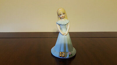 Enesco Growing Up Birthday Doll. Blonde, age 10