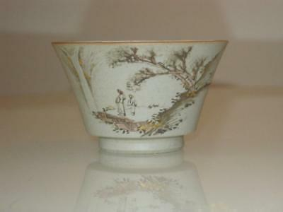 Stunning Antique Signed Japanese Pottery Bowl
