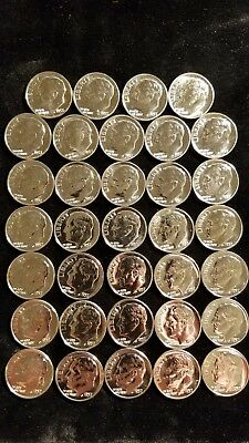 Lot of 34- 1957 Proof Roosevelt Dimes