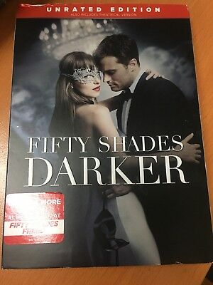 Fifty Shades Darker DVD Unrated Movie 2 Romance Dakota Johnson