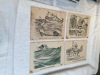 (24) Lot of Dilbert Navy Training Division Pilot aviation posters WWII Osborn