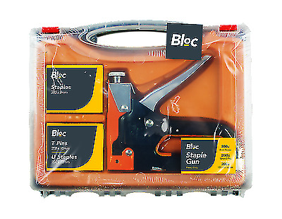 Bloc Industrial Staple Gun In Carry Case Carpets Upholstery With 600 Staples Pin