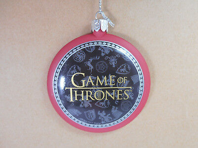 Games of Thrones Dragon Disk Ornament by Kurt Adler GO1172 Red