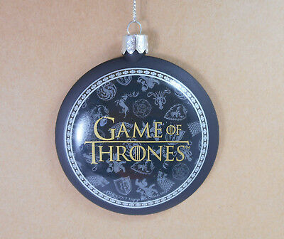 Games of Thrones Sword Chair Disk Ornament by Kurt Adler GO1172 Black