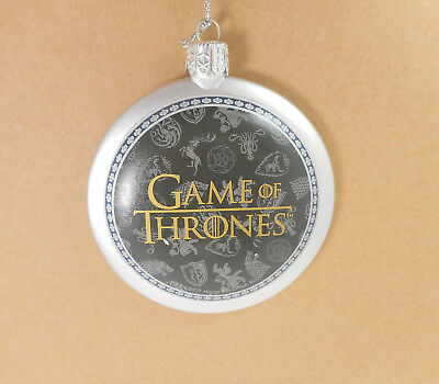 Games of Thrones  Disk Ornament by Kurt Adler GO1172 Silver