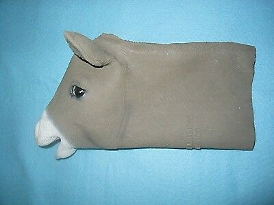 DONKEY PUPPET/Rubber Latex/MULE/1999 Mask Illusions/1993/Made In Mexico/PLAY