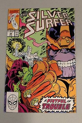 Silver Surfer #44 1990 NM- 9.2 1st Appearance Infinity Gauntlet Avengers Movie