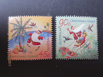 No-1--2005    CHRISTMAS   ISLAND   ISSUED   CHRISTMAS  2  STAMPS -MINT