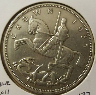 Great Britain - 1935 Rocking Horse Crown - King George V - A Pleasant Example