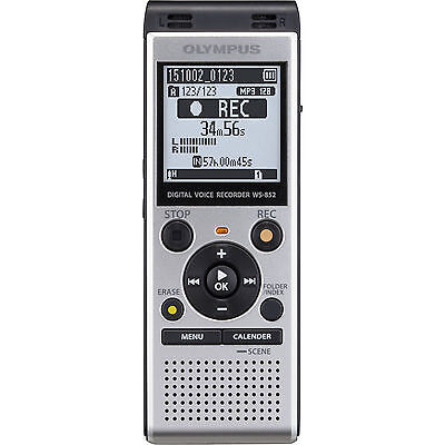 💥 BRAND NEW Olympus - WS-Series Digital Voice Recorder - Silver - WS-852