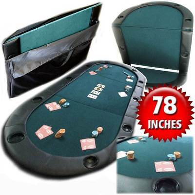 Texas Hold'em Poker Folding Tabletop with Cup Holders [ID 19160]