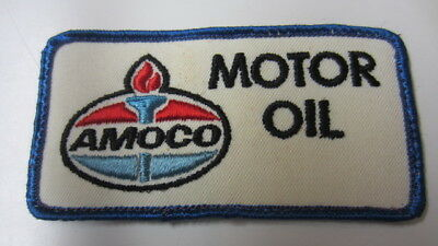Vintage Amoco Motor Oil Rectangle Embroidery Patch