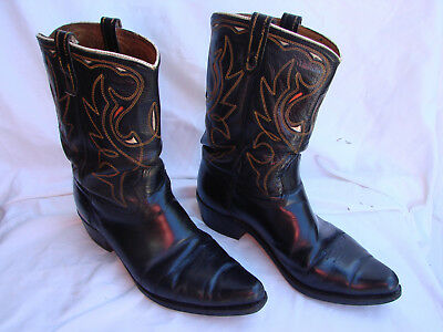 Men's Vintage Acme Inlay Cowboy Western Boots Size 11 E