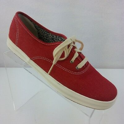 dd9d568ff KEDS CHAMPION ORIGINALS Casual Red Canvas Sneakers Shoes Women s US ...