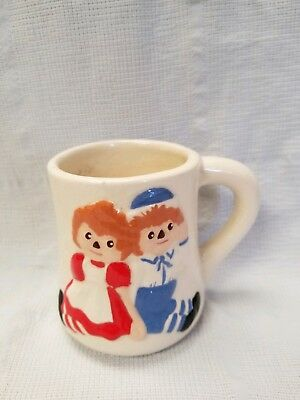 Vintage Raggedy Ann And Andy Mug!! - From The 40's!! - Super Item!!