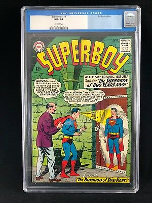 "Superboy #113 CGC 9.2 ""the Superboy Of 800 Years Ago!"" High Grade! 1964"