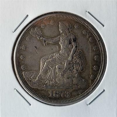 1873 Trade Dollar - Very Fine - Great Looking Piece - First Year Issue