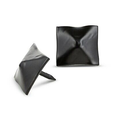 """50 Pack Square Pyramid Door Clavos Decorative Nails 1"""" Rustic Hammered Iron"""