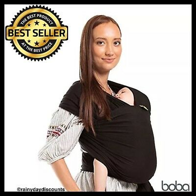 Boba Baby Wrap Infant Carrier Body Wrap The Original Child & Newborn Sling BLACK
