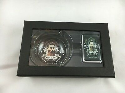 Ned Kelly Outlaw Legend Oil Lighter and Ash Tray Gift Pack