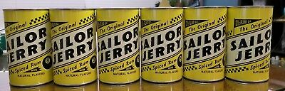6 SAILOR JERRY 13.5 oz. Tin Oil Drinking Cups Collectible