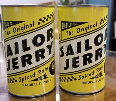 2 SAILOR JERRY 13.5 oz. Tin Oil Drinking Cups Collectible