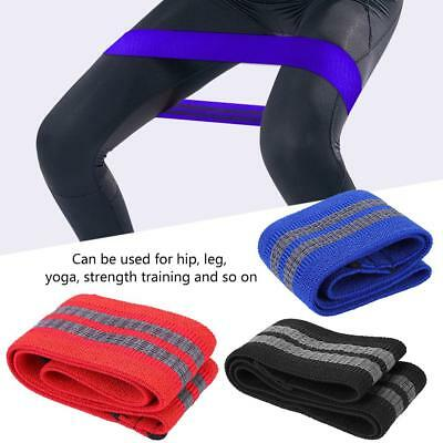 Elastic Resistance Bands Hip Loop Yoga Exercise Gym Fitness Workout Stretch Band