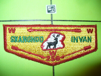 OA Skanondo Inyan Lodge 256,S-2a,1960s Deer Rock Flap,46,251,Colonel Drake Cl,PA