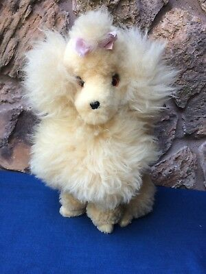 Vintage 1950's Lambs Wool Poodle Dog Collectable. Made in New Zealand.