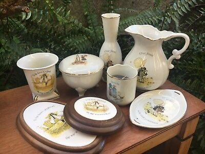 Bulk Lot Of 8 Vintage Holly Hobby Items Jug Trinket Box Dish Plaque Candle