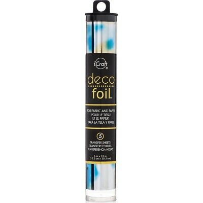 "Deco Foil Specialty Transfer Sheets 6""X12"" 5/Pkg - Lapis Watercolor"