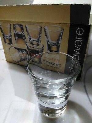 Circleware Boxed Set of 6 Austria 2 oz Shot Glasses Made in Italy Heavy Glass