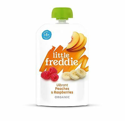 Little Freddie Vibrant Peaches & Raspberries 100g (Pack of 6)